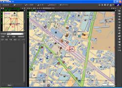 図1 新座市の志木駅付近の地図
