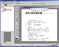 図2 専用ソフトに取り込まれた手書きの議事録