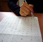 図3 自分フォントを作るため、原稿に手書きする
