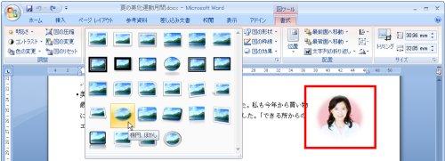 図表5 視覚スタイルをすべて表示し、赤囲みの写真に適用中。