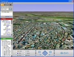 図表4 Google Earth・水平から(南から北側を仰ぐ)